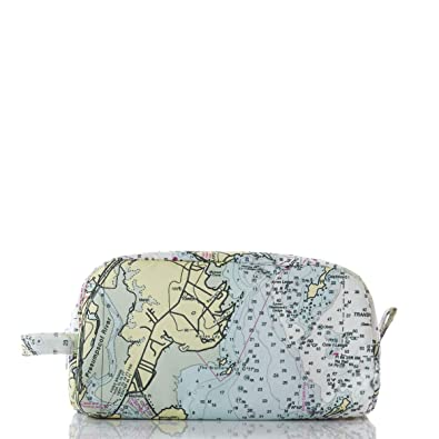 Sea Bags Recycled Sail Cloth Casco Bay Nautical Chart Toiletry Bag