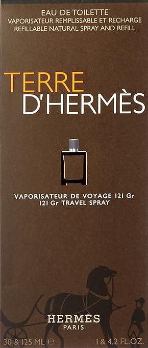 9e116c835d8d Hermes Terre d Hermes Refillable Eau De Toilette Spray 30 ml Refill 125 ml   Amazon.co.uk  Beauty