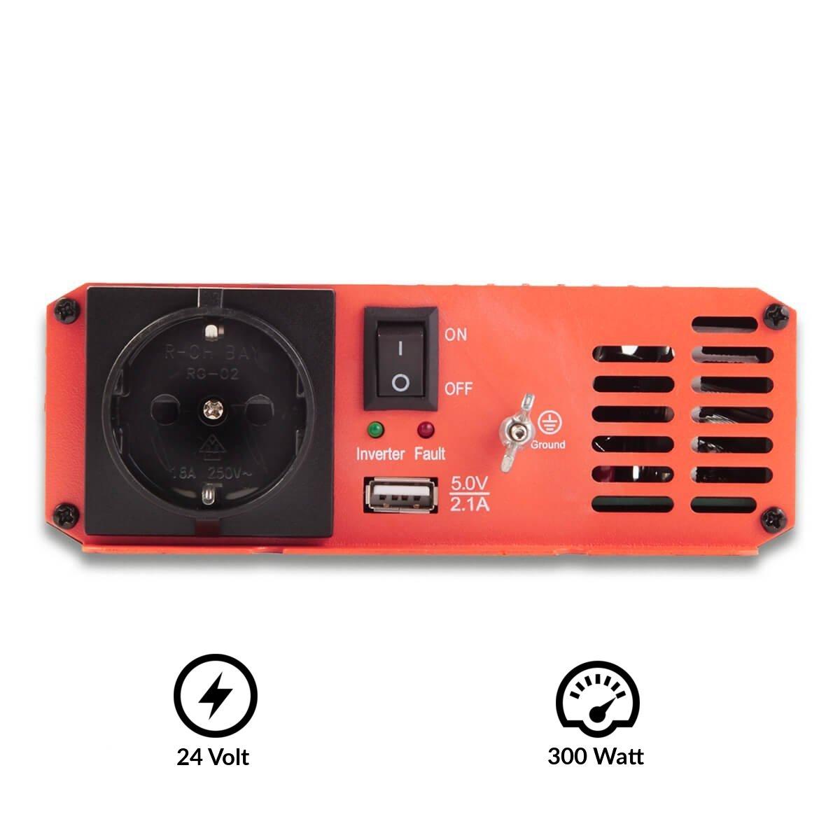 300W 3000W ECTIVE 2500W 24V auf 230V SI-Serie Reiner Sinus Wechselrichter in 7 Varianten