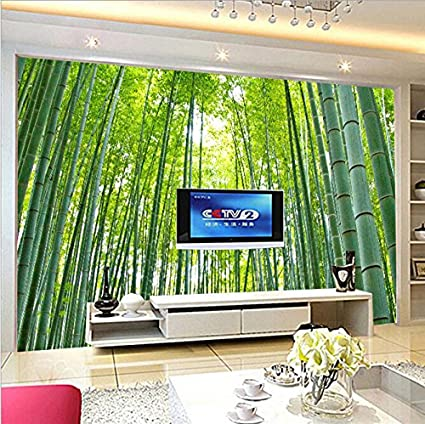 Guanxing 3d Bamboo Forest Mural Self Adhesive Removable Wallpaper