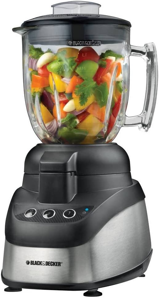 Black & Decker PowerPro – Procesador de alimentos, color negro ...