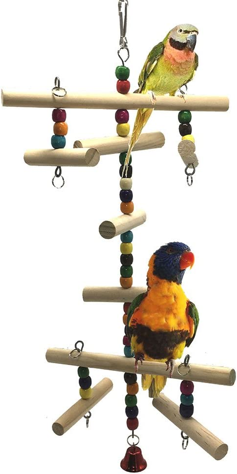 Madera escaleras juguete para pájaros loro periquito periquito cacatúas Conure amor pájaros servilletas de África gris Guacamayo Amazon jaula Perca: Amazon.es: Productos para mascotas