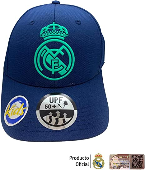 Gorra Azul Marino Infantil Real Madrid - Azul Marino/Turquesa ...