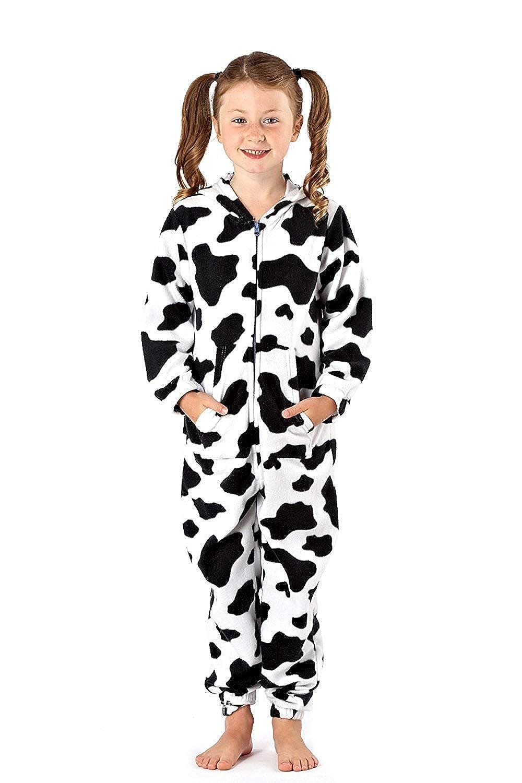 per Bambini Salto Pigiama Abbigliamento da Notte Comodo Pigiama Ragazze Tuta con Cappuccio Pile Tutto in Uno Stampata