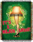 A Christmas Story, Holiday Leg Lamp 48-Inch-by-60-Inch Acrylic Tapestry Throw by The Northwest Company