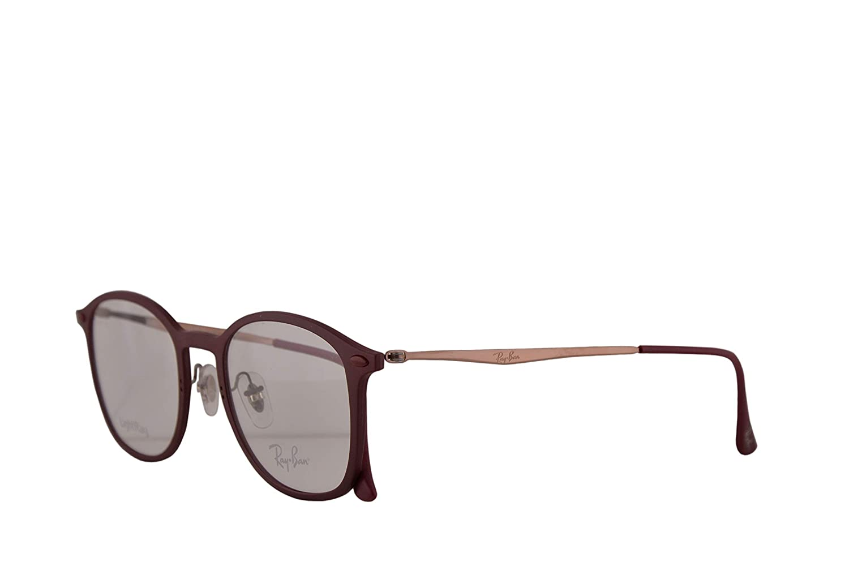 e250b5a0a4b Amazon.com  Ray-Ban RX7051 Eyeglasses 49-20-140 Red w Demo Clear Lenses  5689 RB 7051 RX 7051 RB7051  Clothing