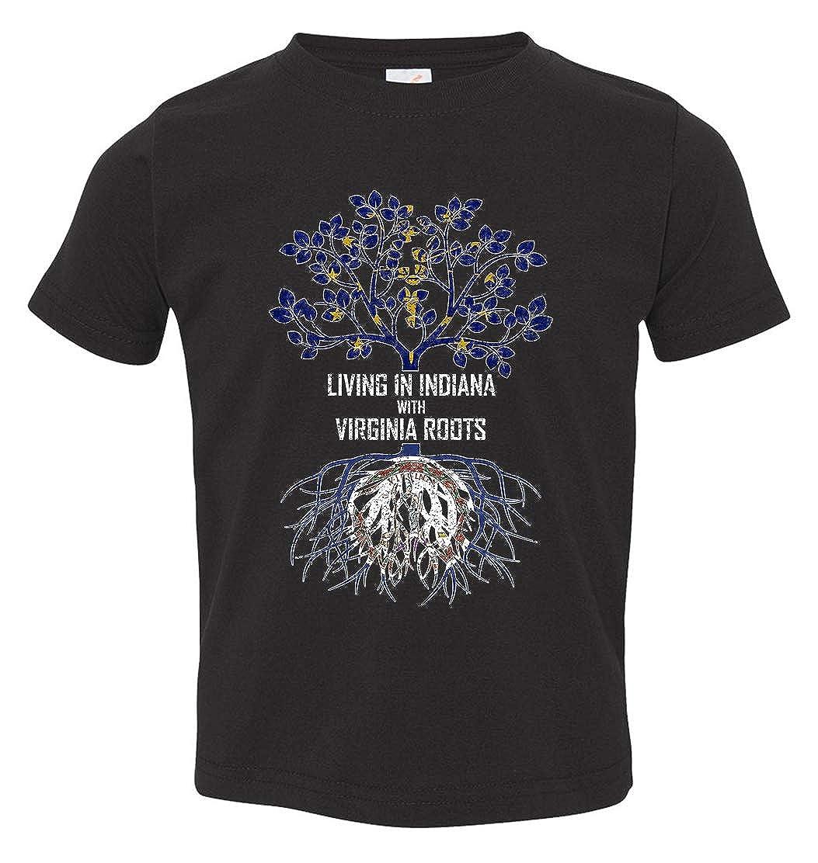 Tenacitee Babys Living in Indiana Virginia Roots Shirt