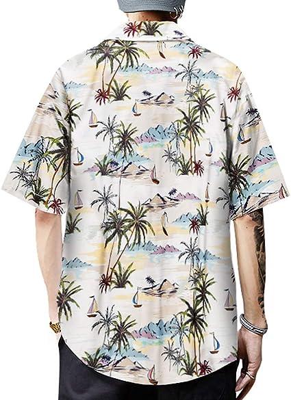 Camiseta Hombre MISSWongg Camisas Hawaiana Secado rápido ...