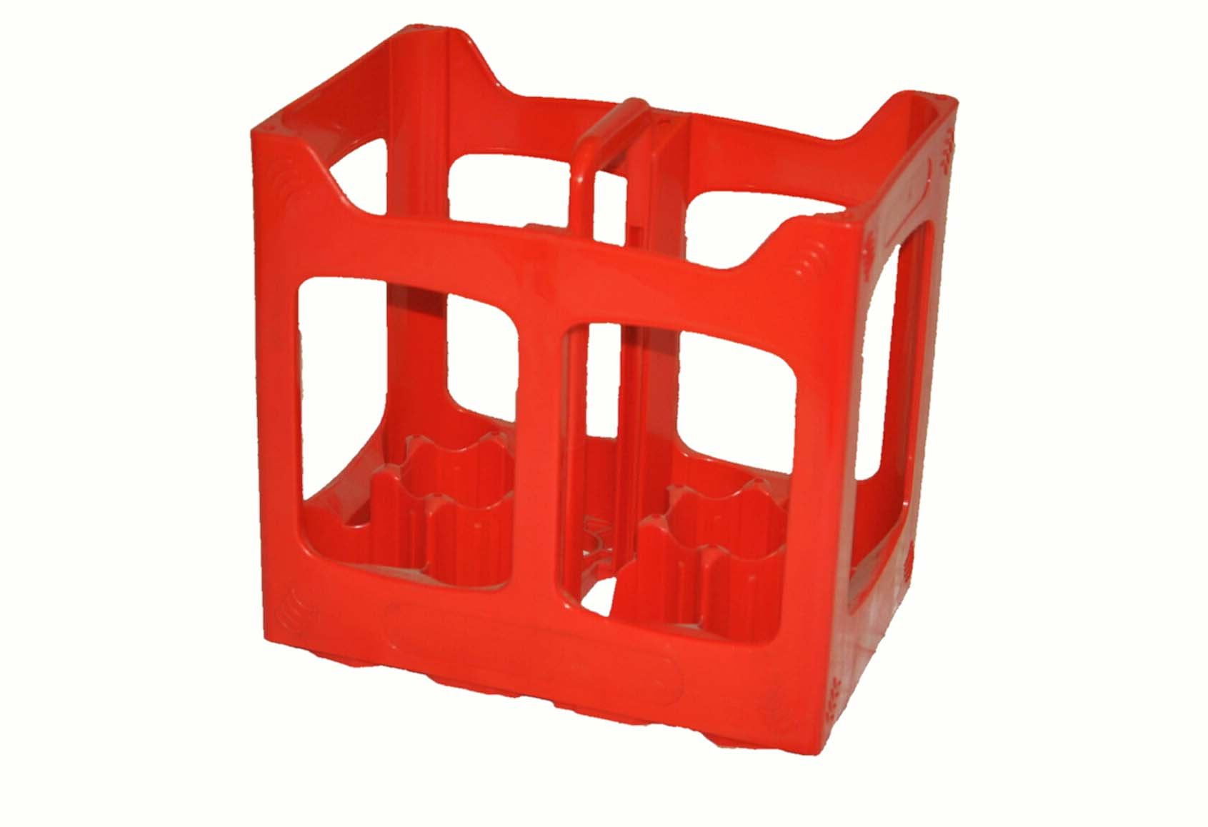Plastic 10 Compartments Beer Soda Bottle Crate. Fits 10 traditional 12-17 oz Bottles. Beer Carrier Holder Basket Home Brew Storage Box Stacking Recycle Glass Polyethylene Breweries (Red)