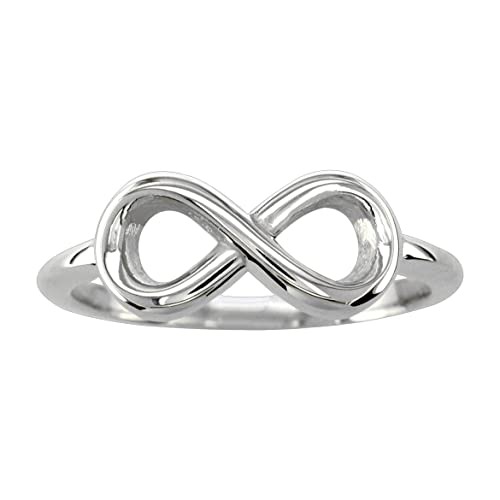 Small Flowing Infinity Ring in 14K White Gold