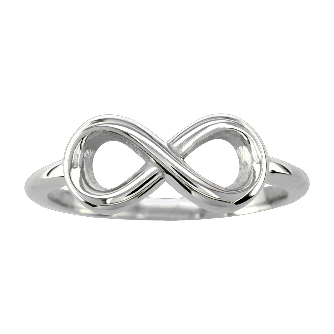 Criss Cross Infinity Ring Yellow in 14K White Gold size 7
