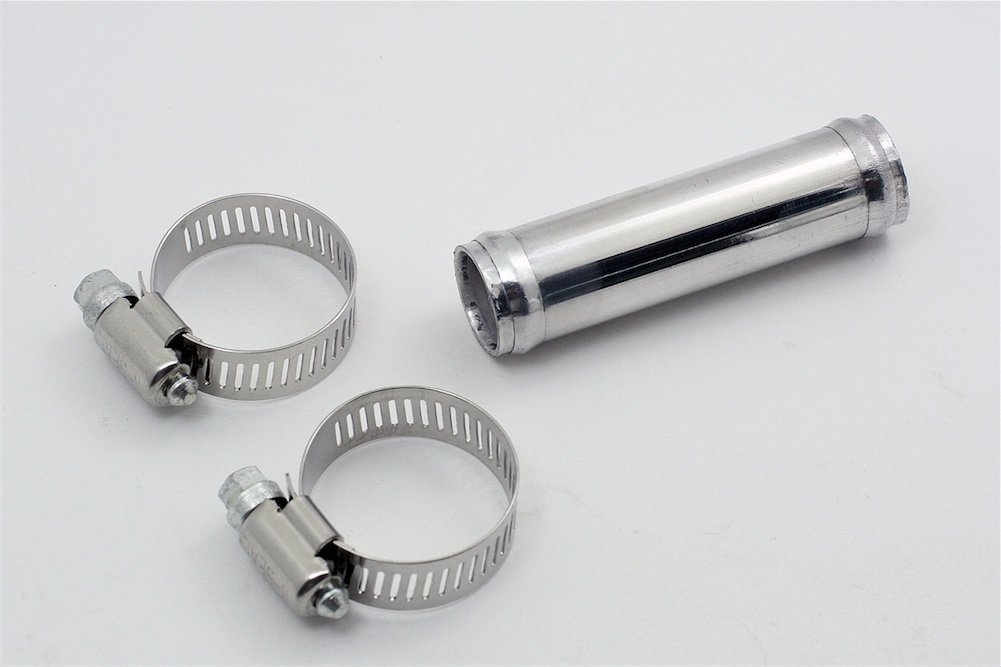 180 Degree Autobahn88 Aluminum Alloy Pipe for Intercooler Pipe Intake Pipe L 12 300mm 64mm and Universal Use OD 2.5 Chrome Polish