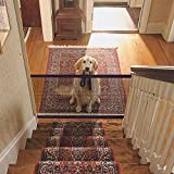"""Magic Gate - Mesh Dog Gate - Portable Retractable Folding Mesh Screen Gate for Dog Cat Pet, Safety Gate for Hall Doorway, Dog Safe Guard Install Anywhere (L:71"""" x W:28"""")"""
