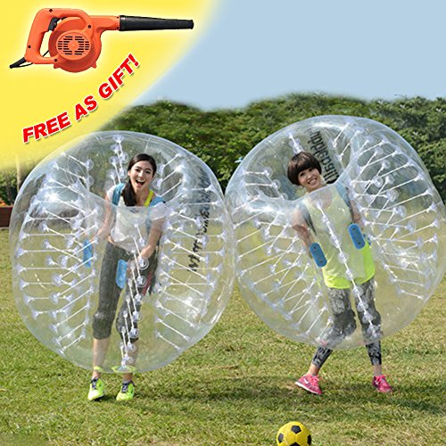 RACPLUS 1.5M/4.9FT Human Knocker Ball Inflatable Bumper Bubble Soccer Zorb Ball for Adult(With 1 FREE Air Pump) by RACPLUS