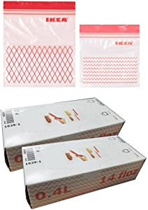 IKEA ISTAD Plastic Freezer bag, red 120Pack