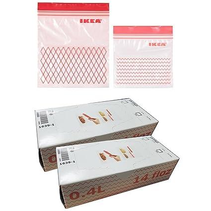 Ikea Istad bolsa de plástico congelador, rojo 120 unidades ...