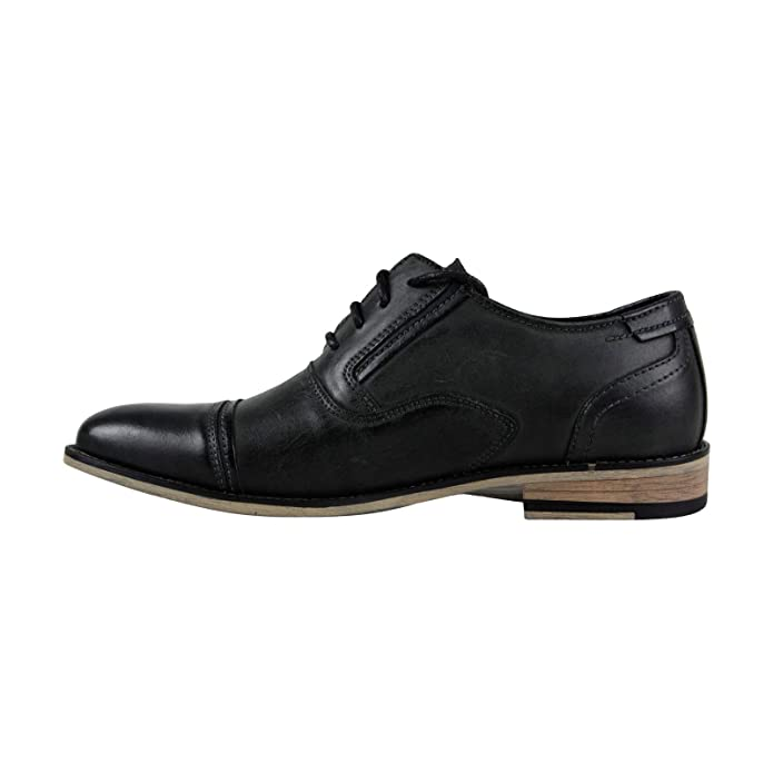 33aeafa89c6 Amazon.com | Steve Madden P-Kraft Mens Black Leather Casual Dress ...