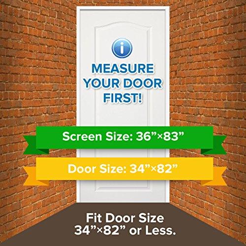 Dooreasy Magnetic Screen Door Super Fine Fly Screen For Doorways/Doors/Patio, Warding Off Mosquitoes and Biting Bugs, Fresh Air In(Fits Doors Up To 34''x82'') by DOOREASY (Image #6)
