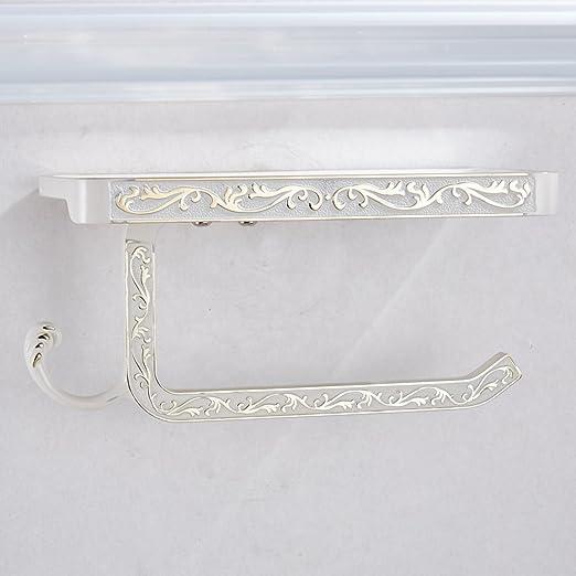 gold L19.5 x B10 x H9.5cm Case Vento lega porta carta igienica con ripiano porta rotolo di carta igenica con cellulare halater lusso stile con intaglio europeo di design
