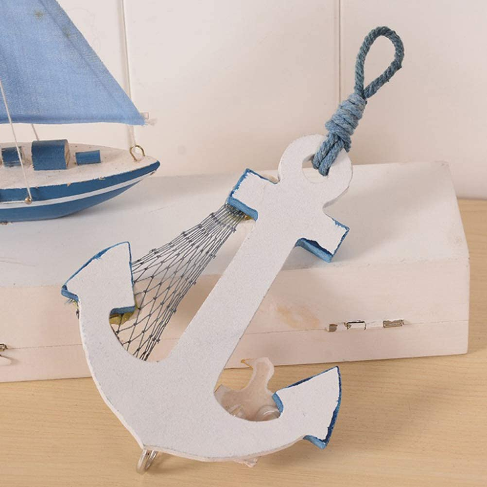 Sailboat Thermometer Nautical Wooden Wall Beach Hut Hanging Decor 40cm