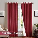 jinchan Bedroom Thermal Blackout Curtains, Energy