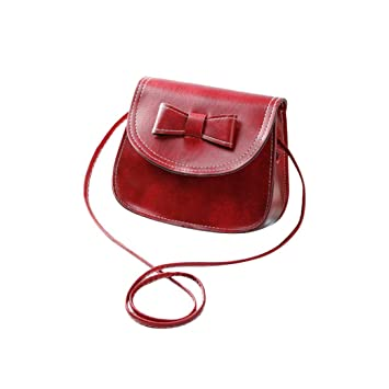 88102f8090 Image Unavailable. Image not available for. Color  Baynne Fashion Bow Knot  Decoration PU Leather Single Strap Shoulder Bag Crossbody Bag
