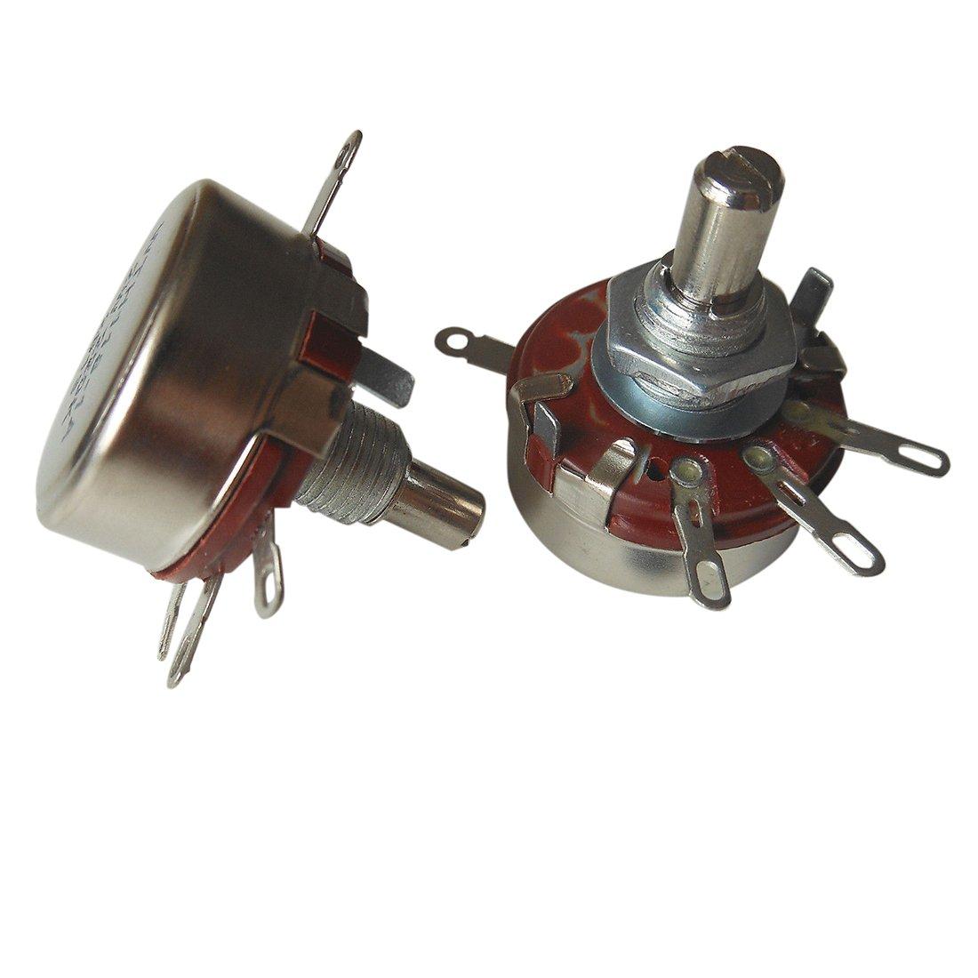 R SODIAL 10pcs WTH118 WTH118-1A 2W Linear Potentiometer 150KOhm