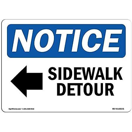 Ditooms Señal de Advertencia de Detour de la acera [Flecha ...
