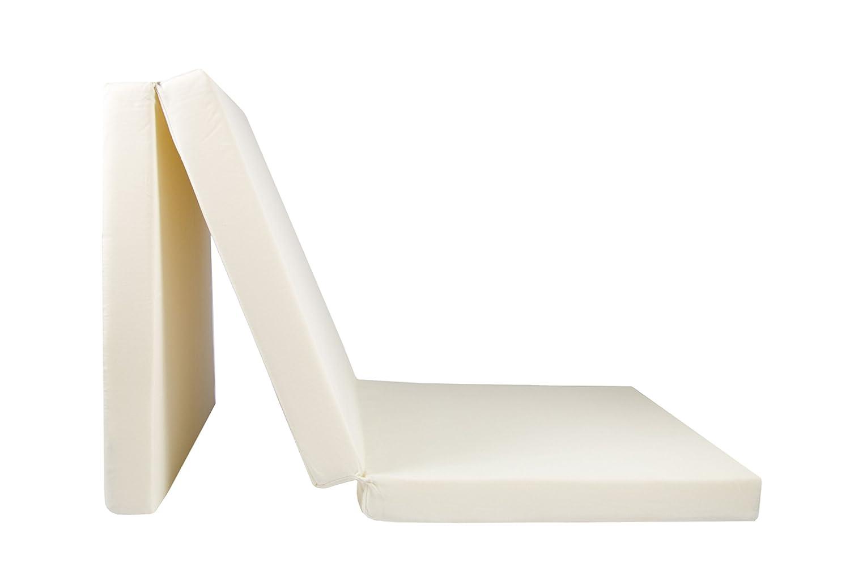 ZOLLNER Colchón Plegable para Invitados, 65x195 cm, Crema: Amazon.es: Hogar