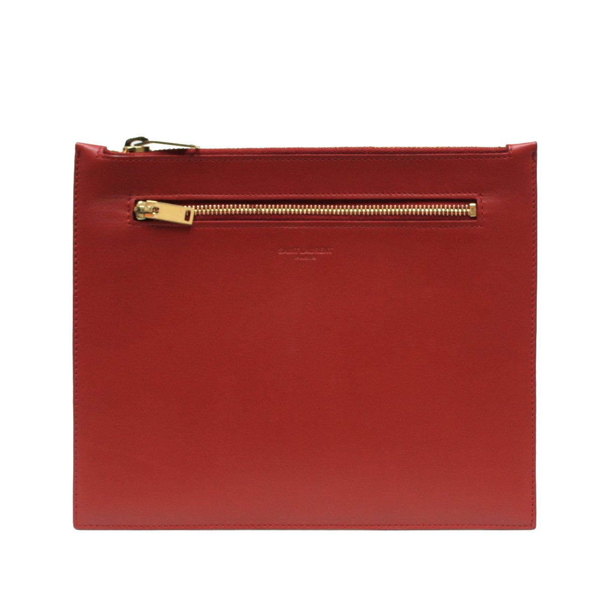 Saint Laurent Classic Leather Document Holder 315872, Lipstick Red by Saint Laurent