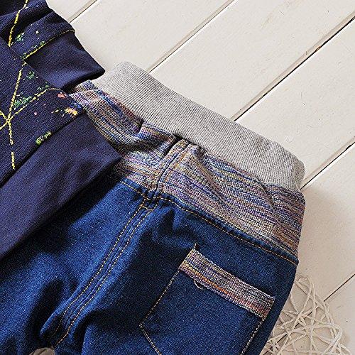 IHRKleid/® Zwei St/ück Classic Kinder Kapuzen-Sweatshirt Jeans 2017 Fr/ühling Kids Hooded Sweat
