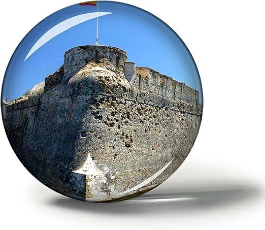 Hqiyaols Souvenir Muros Reales de España Ceuta Imanes Nevera Refrigerador Imán Recuerdo Coleccionables Viaje Regalo Circulo Cristal 1.9 Inches: Amazon.es: Hogar