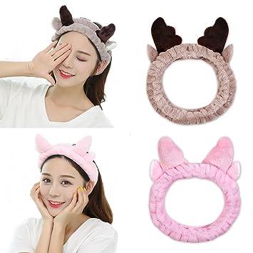 Amazon.com   KOOBA 2 Pack Cat Deer Cute Ears Headband 6f9c114f22e