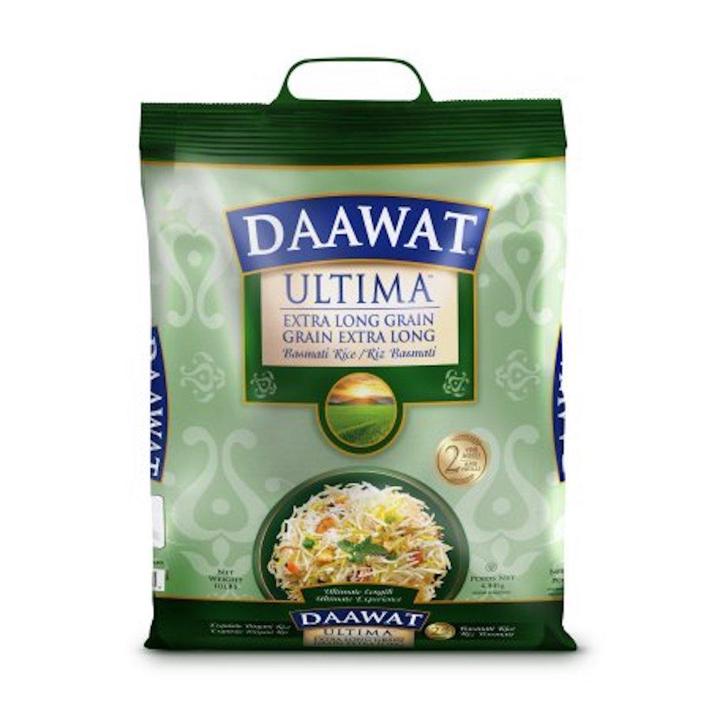 Daawat Ultima Extra Long Grain Basmati Rice, 2-Years Aged, 10lbs