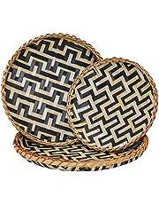 Decorative Wall Baskets Shallow Bamboo Tray