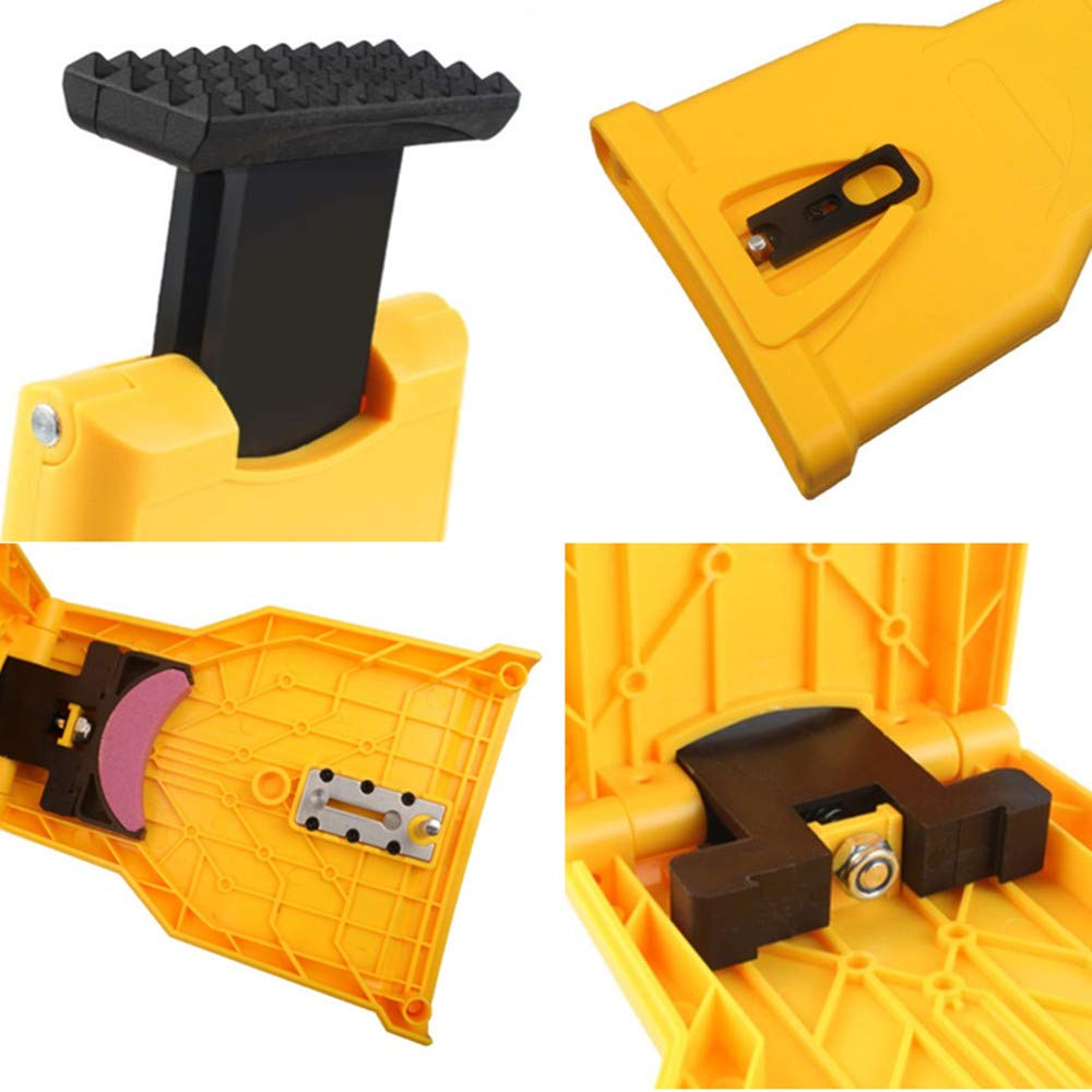 4EVERHOPE Chainsaw Teeth Sharpener Bar-Mounted Fast Grinding Chainsaw Chain Sharpener Woodworking Tools