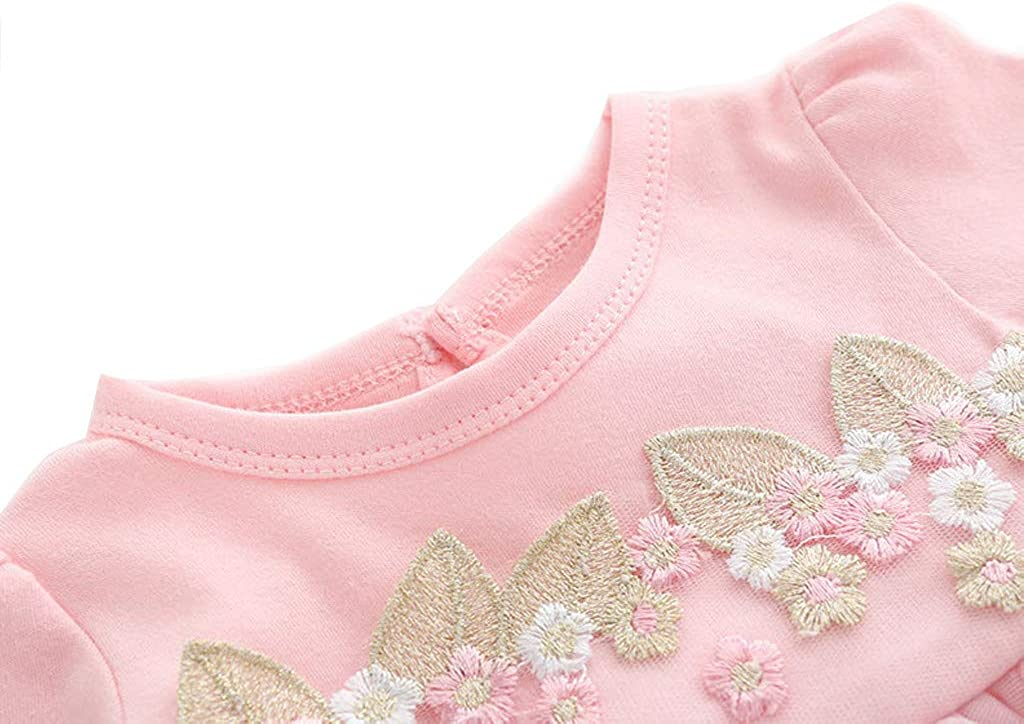 KIMODO/® Kleinkind Baby M/ädchen Kleid Spitze Einfarbig Langarm Kleider Fr/ühling T/üll T/üt/üParty Urlaub Prinzessin Outfit Kleidung