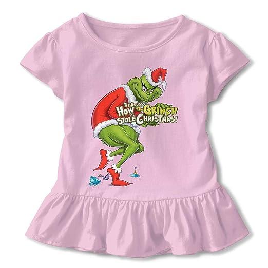 d80fd585d8ca Amazon.com  PSnsnX The Grinch Stole Christmas Girls Short-Sleeve ...
