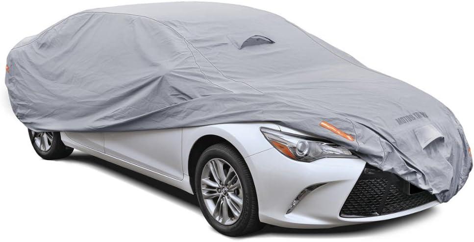 8 Layer Car Cover Indoor Outdoor Waterproof Breathable Layers Fleece Lining 6779