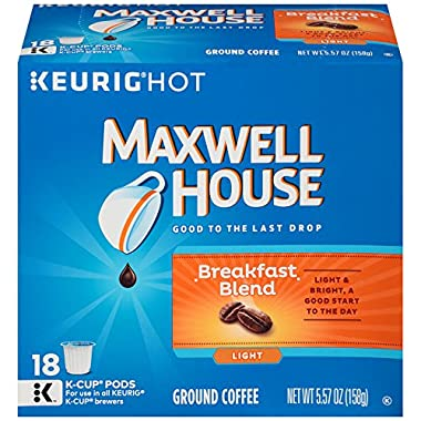Maxwell House Breakfast Blend K-CUP Pods, 18 count