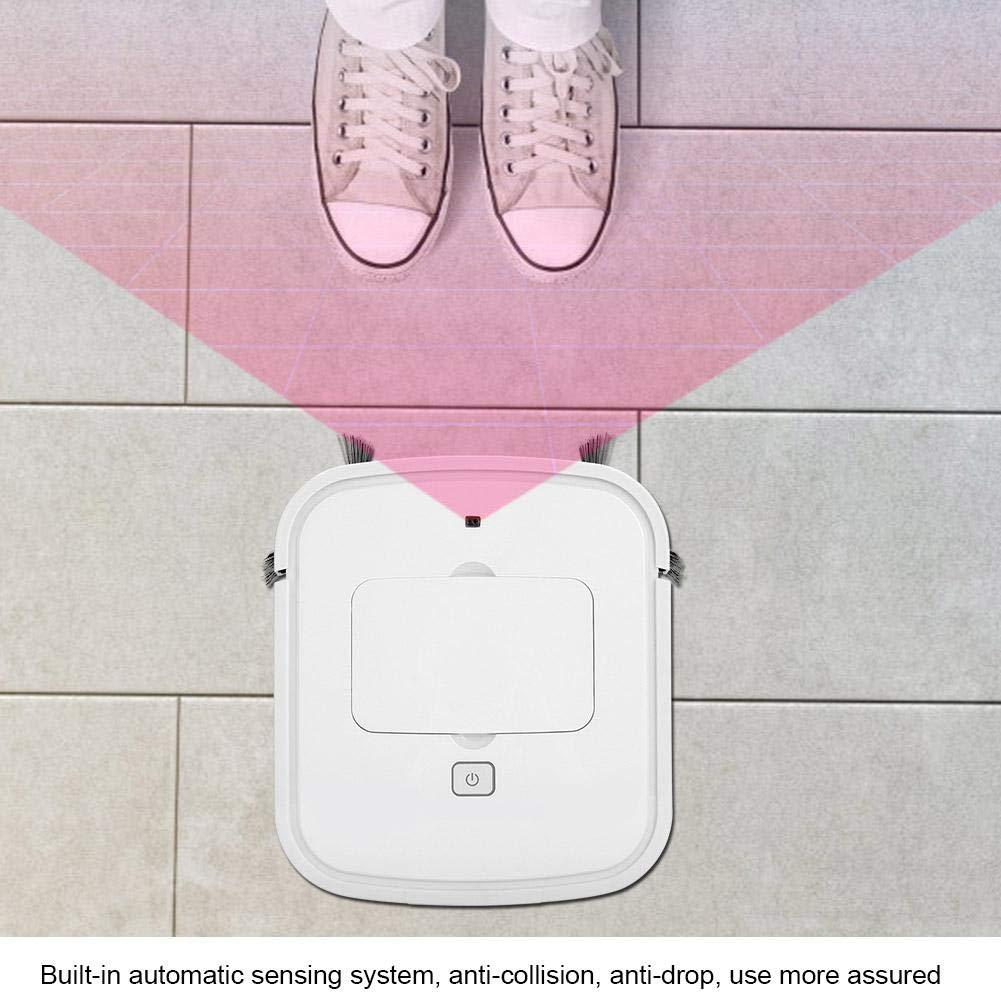 GOTOTOP Robot de Limpieza de Piso Inteligente con Control Remoto 22.5 x 25.5 x 2.5cm Ultradelgado Robot Aspirador de Alto Rendimiento con 2 Cepillo Lateral USB Carga 7W