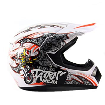 Lidauto Motocross Cascos Motos Off Road Racing Profesionales Cross Graffiti Blanco,S