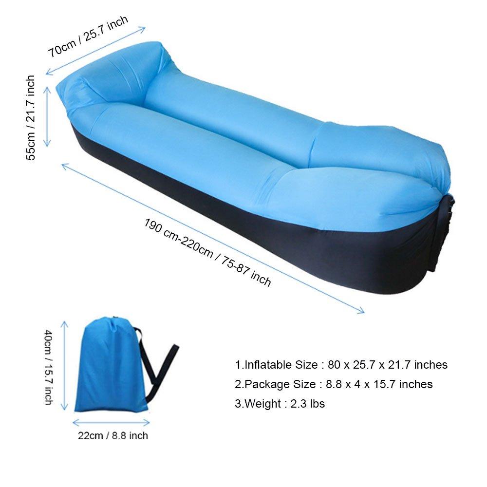 Amazon.com: bny tumbona inflable silla sofá cama Sofá Saco ...