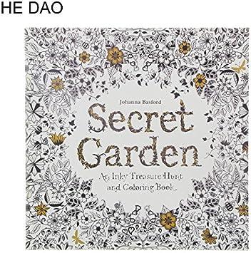 NJPOWER 24 páginas Secret Garden English Edition Libro