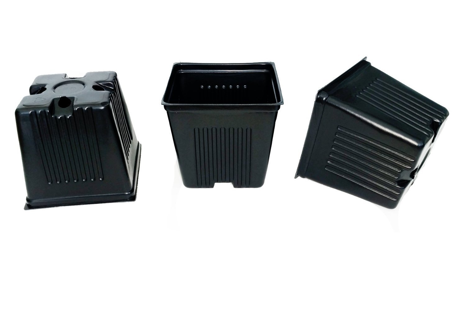 50 Dura pots 3 1/2'' Square Durable and reusable yet Lightweight & flexible for easy de-potting