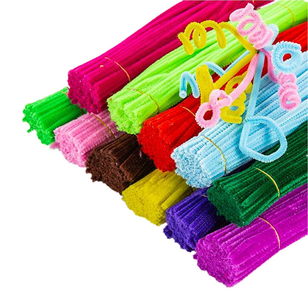 Aukcherie Pipe Cleaners Sets, Includes Craft Chenille Stems, Pom poms, Wiggle Eyes Perfect for DIY Art Supplies (DIY Set2-300pcs)