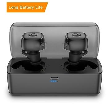 ... Bass con Mic En Auriculares Inalambricos Deportivos Bluetooth Auriculares Compatible con iPhone iPad y Android Smartpones: Amazon.es: Electrónica