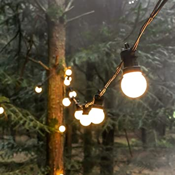 Outdoor Festive Lights Outdoor festoons black rubber cable extendable warm white leds outdoor festoons black rubber cable extendable warm white leds 5m frosted workwithnaturefo