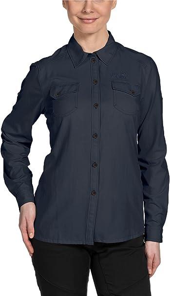 Jack Wolfskin Bluse Brightwater Shirt Women - Camiseta/Camisa Deportivas para Mujer, Color Azul, Talla XL: Amazon.es: Deportes y aire libre