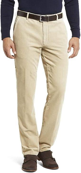 MEYER Pantalones de los Hombres Bonn Pana - Beige - Chino de ...